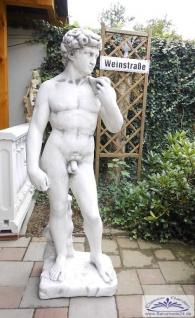 S179 Gartenfigur grosser David von Michelangelo 170cm 228kg Skulptur Steinfigur als Beton Steinguss Figur
