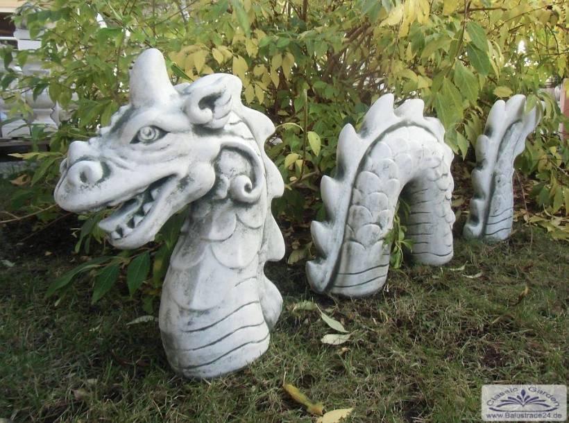 Sa N1472 Gartenfigur Loch Ness Drachen Ungeheuer Fantasyfigur