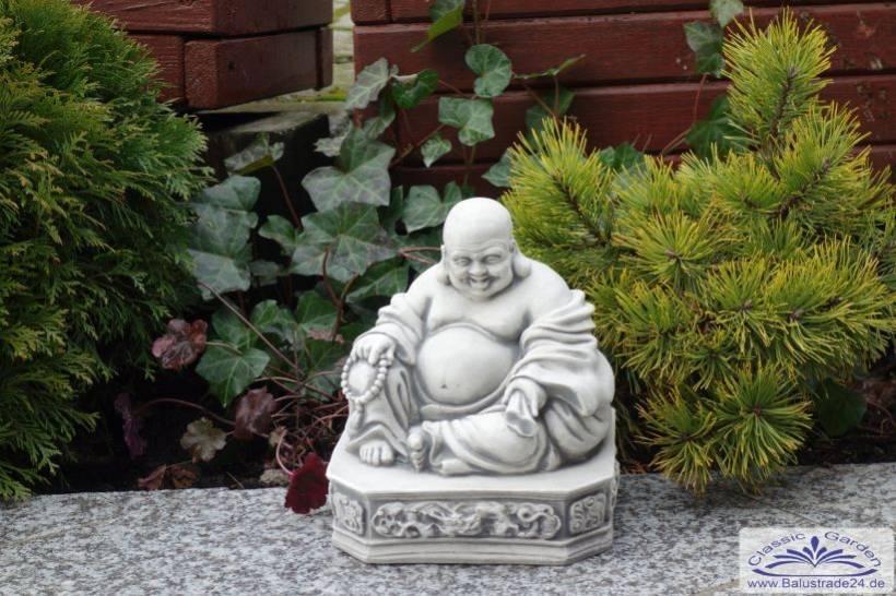 srs101150 kleiner sitzender buddha figur als japanischen garten deko feng shui 25cm 11kg. Black Bedroom Furniture Sets. Home Design Ideas