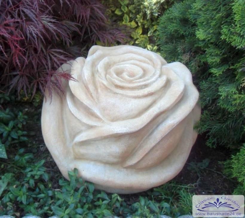 XXL Rose Steinblüte Steinrose als Gartendeko Steinblume 48cm 30kg ...
