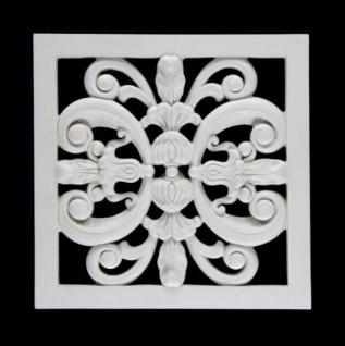 HX-FR8332A Universelles Wand und Decken Zierstuck Gitter als Innenstuck Zierelement aus PU Hartschaum 360x360mm 1 Stück