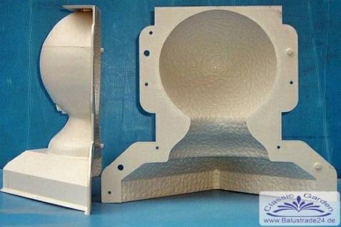 Kugelform AL-K1 29cm hoch 17cm Kugel Durchmesser Form für Betonkugel Gips