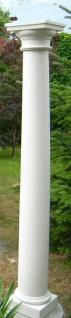BI-S001 Säule aus Beton dorisches Kapitell und Sockel Weissbeton Betonsäule Garten Dekoration Eingang 242cm