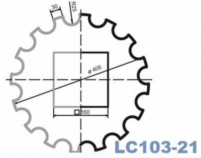LC103-21H Halbsäule kanneliert mit 405mm Durchmesser 2Meter Half für Haus Garten Eingang Verkleidung - Vorschau 2