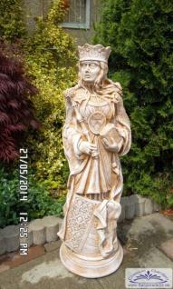 CG-460-461 Gartenfiguren Schachfiguren König und Königin Skulptur Steinfigur Figur 79cm - Vorschau 2