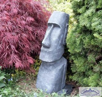 BAD-10114 Moai Figur Osterinsel Skulptur Rapa Nui Tiki Steinfigur anthrazit 76cm 70kg Beton Steinguss