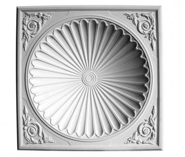 HX-B2014 Verzierte Deckenkuppel aus Polyurethan Hartschaum Kuppel 173mm tief mit weißer Oberfläche 98x98cm