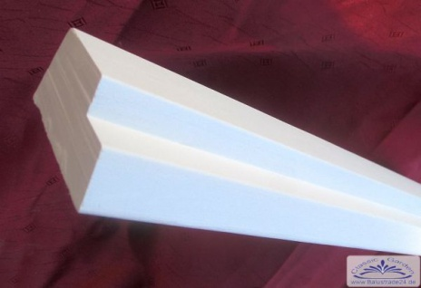 G-15 Gips Gesims Leiste Profil 60x30mm Stuckleiste Gipsstuck Wandgesims Sockelleiste 300cm
