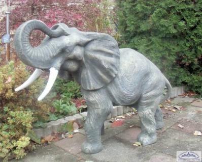 SRS103109 Grosse Elefantenfigur Steinfigur Elefant als Gartendekoration 67cm 91kg