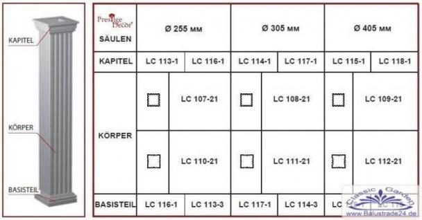 LC107-21F Säule kanneliert mit 255mm Durchmesser 2Meter Full für Haus Garten Eingang Verkleidung - Vorschau 4