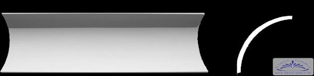 Eckprofil C-25 Gipsstuck 75x75mm Stuckleiste Hohlekehlen Gips Stuck Profil 300cm