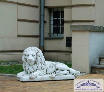 SR632 Gartenfigur Löwe liegend Figur Löwe Skulptur Steinfigur 58cm 234kg