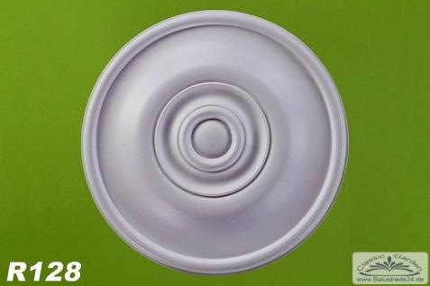 R128 Schlichte Deckenrosette aus Polyurethan Hartschaum mit glatter weißer Oberfläche 30cm