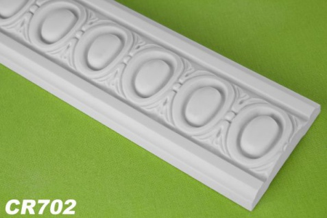 HX-CR702 Flache Leiste mit Musterung für Wand und Decke als Innenstuck 77x19mm Profil 200cm