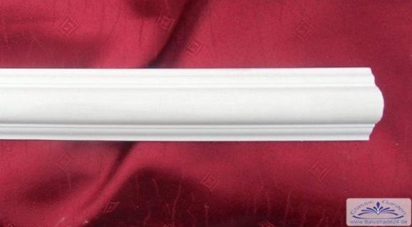 LP-Leiste LP-14 Gipsstuck Zierleiste 40x20mm Stuckleiste als flache Decken und Wand Dekoleiste 1Meter