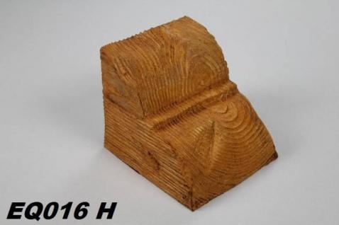 HX-EQ016H Konsole für Deckenbalken aus leichtem Polyurethan Hartschaum als rustikale Innendekoration 120x120x140mm Preis je Stück