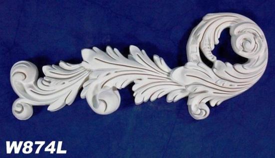 HX-W874L Wand und Decken Zierstuck Element als Innenstuck Zierelement aus PU Hartschaum 190x450mm 1 Stück