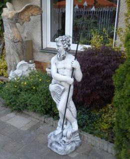 SR388 Gartenfigur Grosser Neptun Statue mit Dreizack aus Metall 123cm 98kg - Vorschau 5