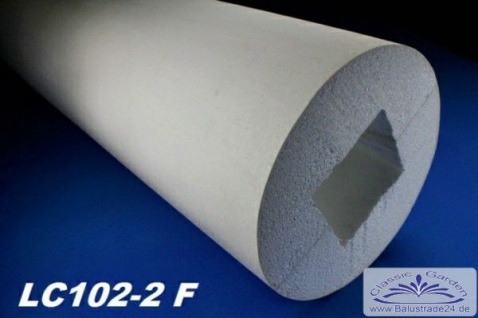 LC102-2F Säule glatt mit 305mm Durchmesser 200cm Styroporsäule für Haus Fassade Vordach Eingang Verkleidung