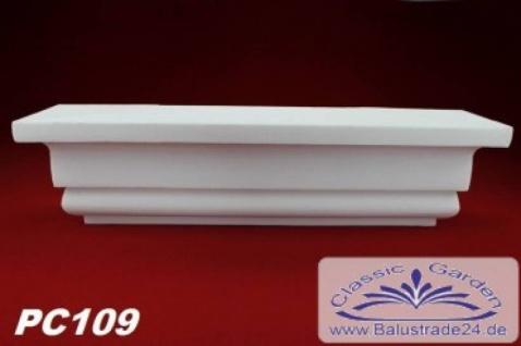 PC109 Pilaster Kapitell small für Pilastersäulen Breite 405mm Styropor Fassadenstuck