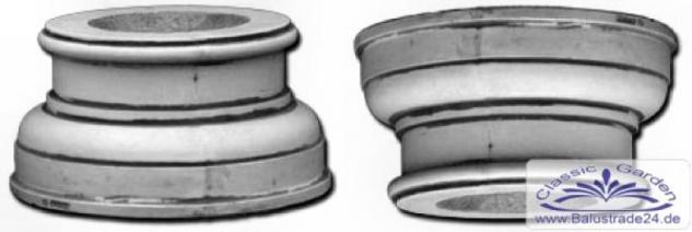 SR375 Basis Sockel Kapitell rund für Säule Betonsäule