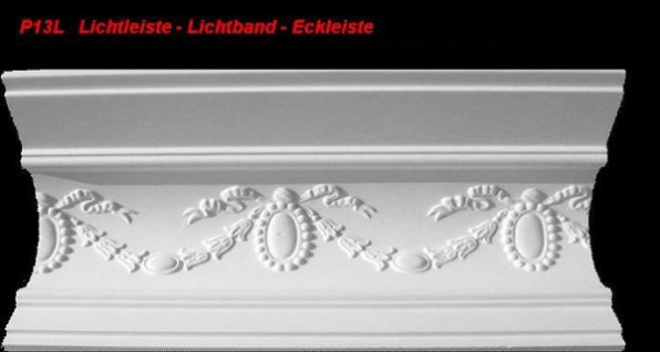 Lichtleiste Eckprofil P-13L Gipsstuck Profil 120x150mm Stuckleiste Gips Stuck Lichtband Eckleiste 1Meter