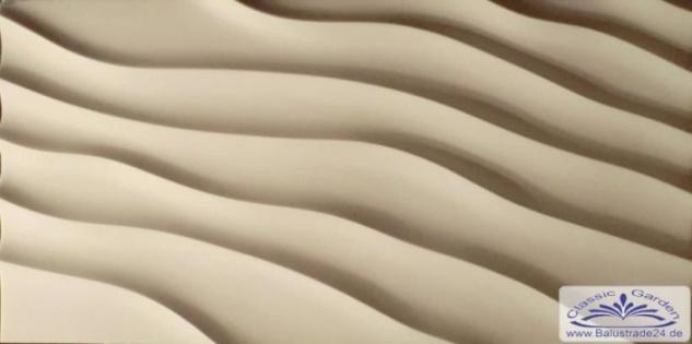 PN-01 Gips 3D Deko Wandverkleidung Dekowandplatten Gipsplatten 100x50cm