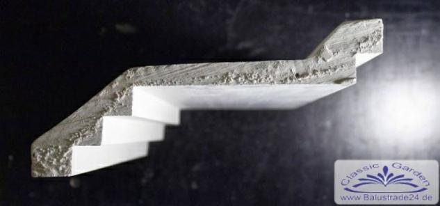Eckprofil C-26 Stuckleiste 100x245mm Gips Stuck als Lichtleiste Lichtband Deckenleiste 290cm