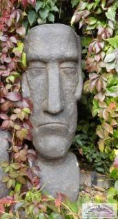 BD-10132 Moai Skulptur Osterinsel Gesicht als Gartenfigur Rapa Nui Steinfigur 100cm 104kg - Vorschau 2