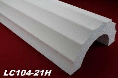 LC101-22H Halbsäule flach kanneliert 255mm Durchmesser 200cm Halbschale runder hohler Ausschnitt als Säulenverkleidung