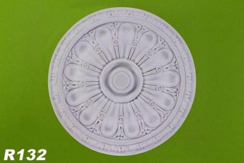 R132 Deckenrosette aus Polyurethan Hartschaum mit weißer Oberfläche 40cm