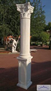 BD-A004 Säule kanneliert 30cm Betonsäule mit Sockel und korinthischem Kapitell 260cm Garten Dekoration Eingang