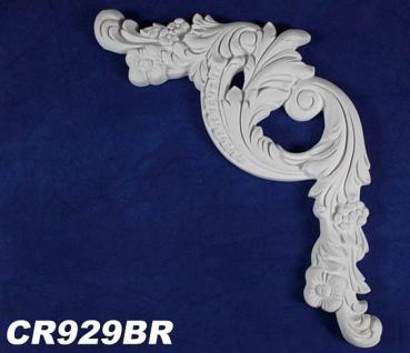 HX-CR929BR Zierstuck Element zur Leiste CR929 Wand Deckenspiegel Innenstuck Zierelement 515x360mm