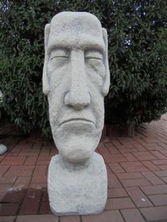 BD-10132 Moai Skulptur Osterinsel Gesicht als Gartenfigur Rapa Nui Steinfigur 100cm 104kg - Vorschau 5