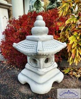 SR609 Japanische Steinlaterne für Garten Pagode Stupa 63cm 60kg