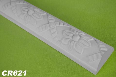 HX-CR621 Flache Leiste mit Musterung für Wand und Decke als Innenstuck 45x28mm Profil 200cm