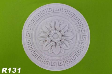 R131 Deckenrosette aus Polyurethan hartschaum mit weißer Oberfläche 54cm