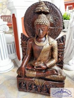 BD-3115 sitzender Buddha XXL Buddhafigur für asiatische Garten Deko 94cm 128kg - Vorschau 2