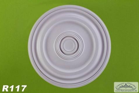 R117 Deckenrosette aus Polyurethan Hartschaum mit glatter weißer Oberfläche 56cm