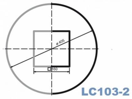 LC103-2H Halbsäule glatt mit 405mm Durchmesser 200cm Halbschalen Styroporsäule für Haus Garten Eingang Verkleidung - Vorschau 2