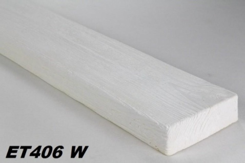 HX-ET406W Brett als Decken- und Wandbrett mit Holzimitat aus leichtem Polyurethan Hartschaum als rustikale Innendekoration 120x35mm Preis je Stück
