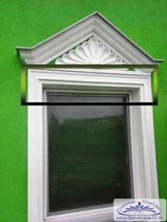 BD-7114 Fassaenstuck Rahmenleiste oben unten Lichtes Mass 595mm massiver Fassadenstuck aus Weissbeton - Vorschau 4