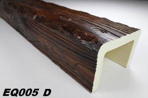 HX-EQ005D Deckenbalken aus leichtem Polyurethan Hartschaum als rustikale Innendekoration 190x130mm Preis je Stück