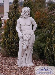 S135 Gartenfigur Skulptur Herkules Farnese Steinfigur aus massivem Weißbeton Steinguss Figur 168cm 349kg