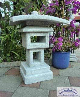 SRS206004 Vogelhaus im Stil einer japanischen Steinlaterne Steinhaus Gartendeko 75cm 100kg