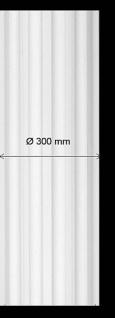 Säule kanneliert K4K 300mm Durchmesser Gips Stuck Säulen aus Stuckgips Halbelement Halbschale
