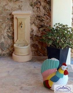 cg wandbrunnen kreta ockerfarben 94cm wasserzapfstelle wasserzapfs ule f r garten zapfstelle. Black Bedroom Furniture Sets. Home Design Ideas