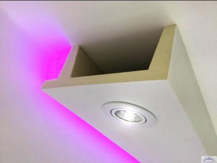 HX-LED-11 Deckenkasten Lichtleiste für LED Spot Beleuchtung aus PU Hartschaum 80x200mm Profil 200cm