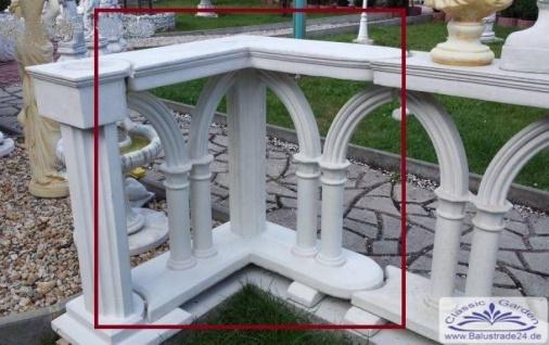 BD-7161 Eckelement zur mobilen Balustrade 84cm mit gotischen Bögen für Strassencafe Lokal Terrasse Garten Zaun