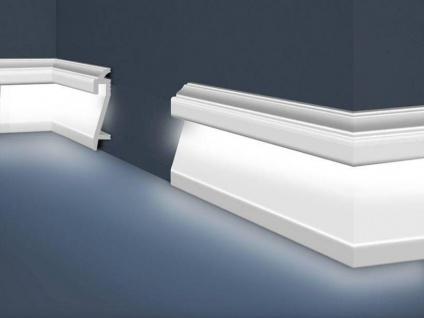 HX-HF-3 Fussboden LED Lichtleiste für Beleuchtung aus Polystyrol 109x22mm Sockelleiste 200cm